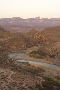 The Rio Grande River, with Mexico on the Left and the United States on the Right by Phil Schermeister