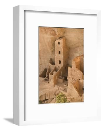 The Ruins of a Cliff Dwelling, Square Tower House, in Mesa Verde National Park