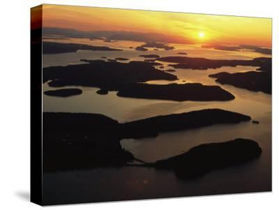 The San Juan Islands at Sunset