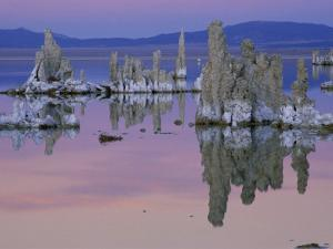 Tufa Towers Rise Out of Mono Lake in California at Sunset by Phil Schermeister