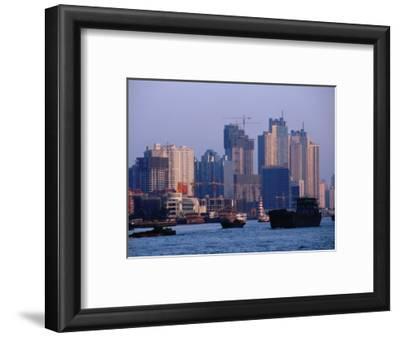 City Skyline and Construction, Shanghai, China