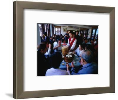 Inside Nanxiang Steamed Bun Restaurant, Shanghai, China