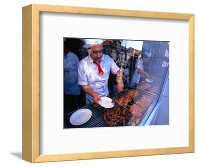 Kebabs Cooking, Istanbul, Turkey