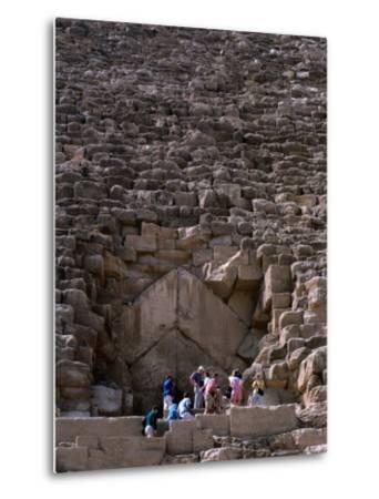 Tourists Entering Shaft of Pyramid of Cheops at Giza Cairo, Egypt