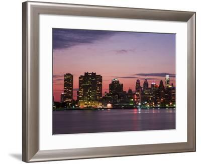 Philadelphia Skyline and Delaware River, Philadelphia, Pennsylvania, United States of America-Richard Cummins-Framed Photographic Print