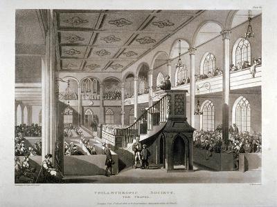 Philanthropic Society Institution Chapel, London Road, Southwark, London, 1809-Edward Blackburn-Giclee Print