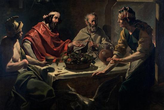 Philemon and Baucis Entertaining Jupiter and Mercury, C.1615-25-Abraham Janssens Van Nuyssen-Giclee Print