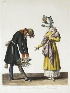 Parting of a Russian Officer with a Parisian Women, 1816 by Philibert-Louis Debucourt