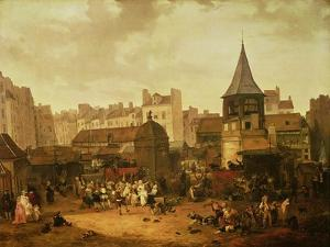 Rejoicing at Les Halles to Celebrate the Birth of Dauphin Louis of France 21st January 1781, 1783 by Philibert-Louis Debucourt