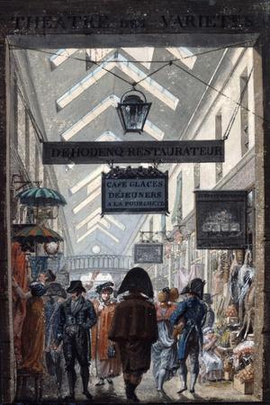 The Shopping Arcade 'Des Panoramas' in Paris, 1807
