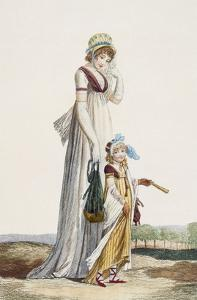 Young Mother and Child, 1800 (Coloured Engraving) by Philibert Louis Debucourt