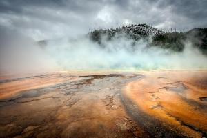 Grand Prismatic Spring in Yellowstone by Philip Bird