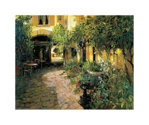 Alsace Courtyard by Philip Craig