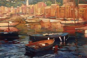 Anchored Boats, Portofino by Philip Craig