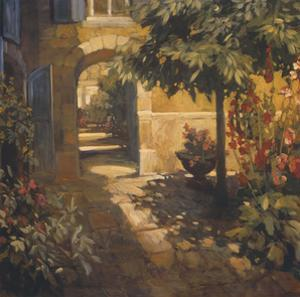 Courtyard in Provence by Philip Craig