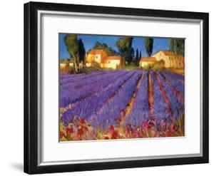 Late Afternoon, Lavender Fields by Philip Craig