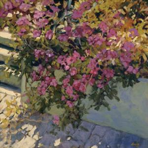Steps and Summer Flowers by Philip Craig