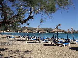 Beach, Port De Pollenca, Majorca, Balearic Islands, Spain, Mediterranean by Philip Craven