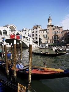 Grand Canal and the Rialto Bridge, Unesco World Heritage Site, Venice, Veneto, Italy by Philip Craven