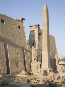 Obelisk and Pylon of Ramesses II, Luxor Temple, Luxor, Thebes, Egypt by Philip Craven