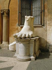 Statue of Large Foot, Capitol Hill, Rome, Lazio, Italy, Europe by Philip Craven