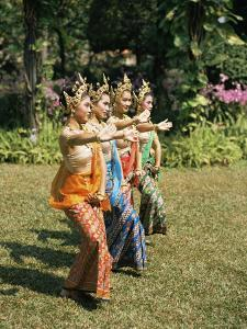 Thai Dancing, Oriental Gardens, Bangkok, Thailand, Southeast Asia by Philip Craven
