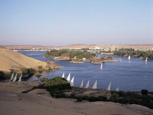 The River Nile, Including Kitcheners and Elephantine Island, Aswan, Egypt, North Africa, Africa by Philip Craven