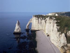White Chalk Cliffs, Etretat, Cote d'Albatre, Normandy, France by Philip Craven