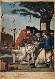The Bostonian's Paying the Excise-Man, or Tarring and Feathering, 1774 by Philip Dawe