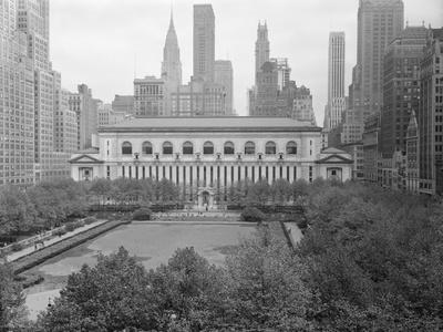 Bryant Park Looking toward Public Library