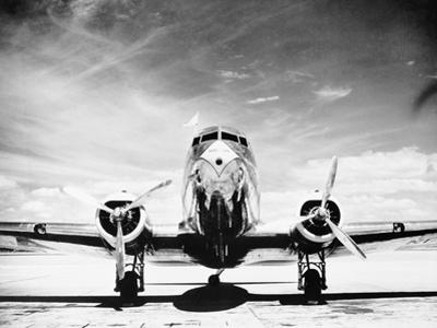 Passenger Airplane on Runway by Philip Gendreau