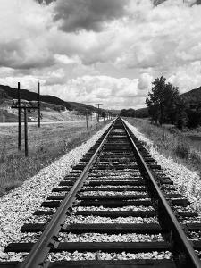 Railroad Tracks Stretching into the Distance by Philip Gendreau