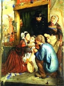 French Peasants Finding their Stolen Child, 1859 by Philip Hermogenes Calderon