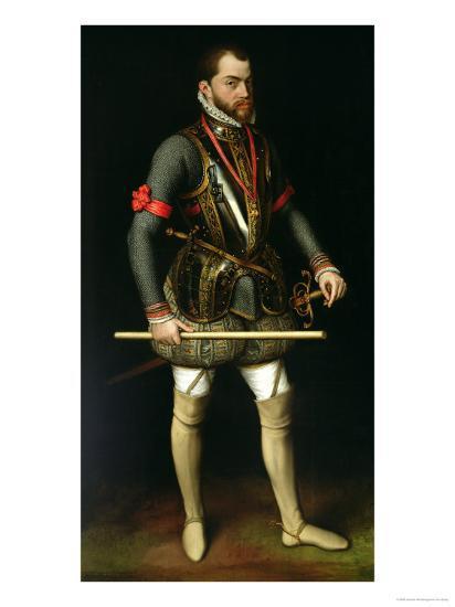 Philip II (1527-98) of Spain-Antonis Mor-Giclee Print