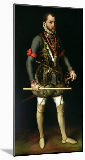 Philip II (1527-98) of Spain-Antonis Mor-Mounted Giclee Print