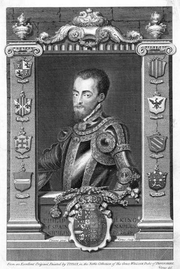 Philip II, King of Spain, 16th Century, (173)-George Vertue-Giclee Print