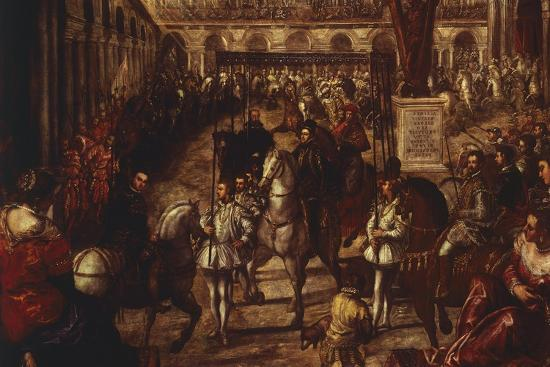 Philip II Received by Francesco Gonzaga in Mantua-Jacopo Robusti-Giclee Print