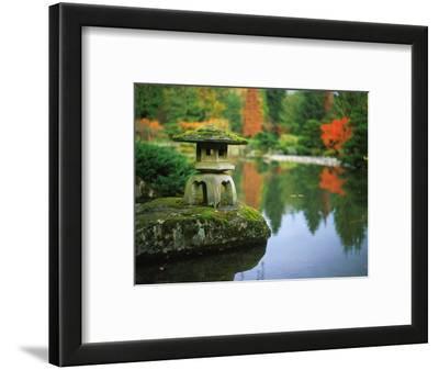 Stone Lantern in the Japanese Tea Garden at the University of Washington Arboretum