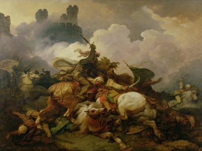 Battle Between Richard I Lionheart (1157-99) and Saladin (1137-93) in Palestine