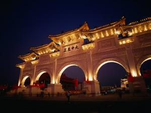 Chiang Kai Shek Memorial, Pavilion and Gates, Early Evening, Taipei, Taiwan by Philip & Karen Smith