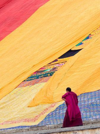 Labrang Monastery Monk, Xiahe, Gansu Province, China