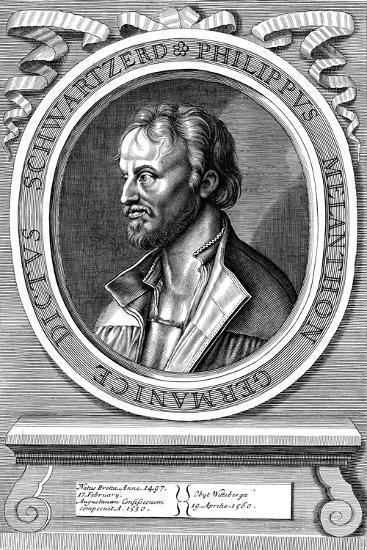 Philip Melanchthon the German Protestant Reformer, C18th Century-Hans Holbein the Younger-Giclee Print