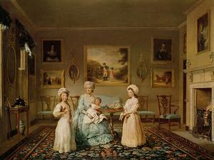 Mrs. Congreve and Her Children in Their London Drawing Room, 1782 by Philip Reinagle