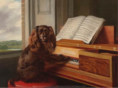 Portrait of an Extraordinary Musical Dog, 1805