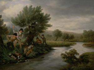 Spearing the Otter, 1805 by Philip Reinagle