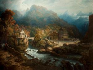 The Mountains of Vietri by Philip Reinagle
