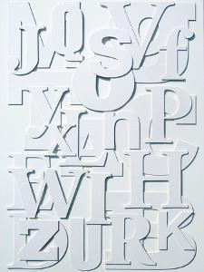 White Alphabet by Philip Sheffield