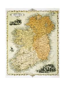 Ireland Map by C. Montague by Philip Spruyt
