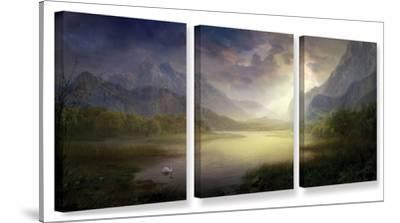 Silent Morning, 3 Piece Gallery-Wrapped Canvas Set