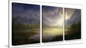 Silent Morning, 3 Piece Gallery-Wrapped Canvas Set by Philip Straub